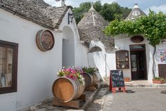 Alberobello in Italy Puglia stock image