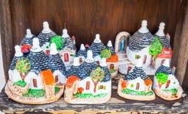 ALBEROBELLO, ITALY - Trulli di Alberobello souvenirs for tourist Royalty Free Stock Photo