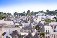 Alberobello, ITALY - Trulli di Alberobello, UNESCO heritage site Royalty Free Stock Photography
