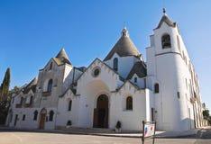 alberobello kościelny Italy Puglia trullo Obraz Royalty Free