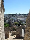 Alberobello landscape. Typical view of a famous Italian mediterranean city (in puglia) visited from million of tourist every year. Here a landscape where is Royalty Free Stock Photos