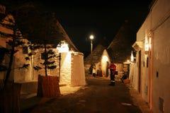 Alberobello by night Royalty Free Stock Photos