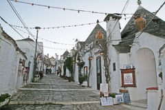 Alberobello old street Stock Photos