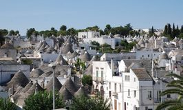 Alberobello Panorama 1 Stock Photos