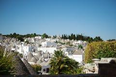 Alberobello panoramic view, Apulia, Italy Royalty Free Stock Photos