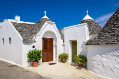 Alberobello, Puglia, Italië Stock Foto