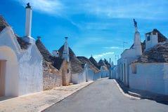Alberobello, Puglia, Italië Royalty-vrije Stock Foto's