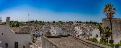 Alberobello, Puglia, Italië, Murge, een dorp van wit trulliimm Royalty-vrije Stock Fotografie