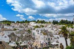 Alberobello, Puglia, Italia Imagen de archivo libre de regalías