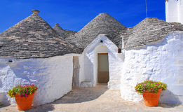 Alberobello, Puglia, Italie Photos libres de droits