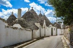 Alberobello, Puglia, Italie Photographie stock libre de droits