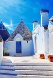 Alberobello, Puglia, Italy. Famous touristic destination, Alberobello, Italy Royalty Free Stock Images