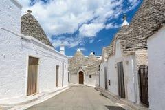 Alberobello, Puglia, Italy. A tiny street in Alberobello, Puglia, Italy Royalty Free Stock Photography