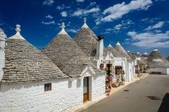 Alberobello, Puglia, Italy. A tiny street in Alberobello, Puglia, Italy stock image