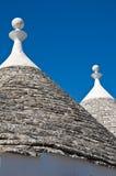 Alberobello's Trulli. Puglia. Italy. Close up of Alberobello's Trulli. Puglia. Italy stock photos