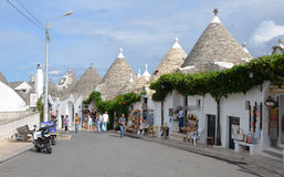 ALBEROBELLO - SEP 17: Zona Trulli in Alberobello, Apulia, Italy Stock Photos