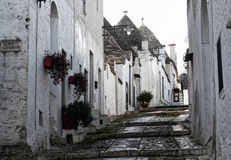 Alberobello street view Stock Images