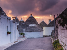 Alberobello town in Italy Royalty Free Stock Images