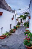 Alberobello town in Italy Stock Photography