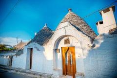 ALBEROBELLO, Tradycyjni trulli domy w Alberobello, Włochy Fotografia Royalty Free