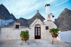 ALBEROBELLO, Tradycyjni trulli domy w Alberobello, Włochy Zdjęcia Royalty Free