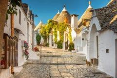 Alberobello Trulli, Πούλια, Apulia, Ιταλία Στοκ Φωτογραφίες