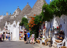 Alberobello, Trulli Stockfoto