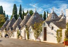 Alberobello Trulli, Apulia, Апулия, Италия Стоковое Изображение
