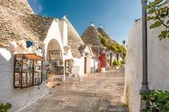 Alberobello Trulli, Apulia, Апулия, Италия Стоковая Фотография RF