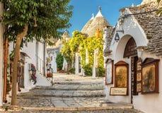 Alberobello Trulli, Apulia, Апулия, Италия Стоковые Фотографии RF