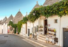 Alberobello Trulli, Apulia, Puglia, Italia Imagen de archivo