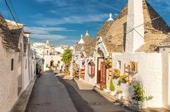 Alberobello Trulli, Apulia, Puglia, Włochy Zdjęcia Royalty Free