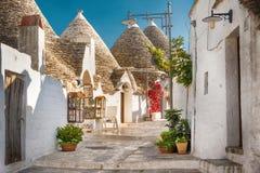 Alberobello Trulli, Apulien, Puglia, Italien Stockbilder