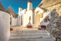 Alberobello Trulli, Apulien, Puglia, Italien Lizenzfreies Stockfoto