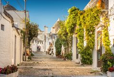 Alberobello Trulli, Apulien, Puglia, Italien Stockfotografie
