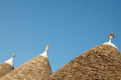 Alberobello, trulli Dächer Lizenzfreies Stockbild