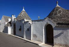 Alberobello. Trulli houses street, Apulia, Italy Europe Stock Photography