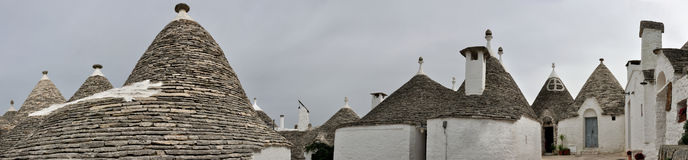 Alberobello trulli panorama Stock Images