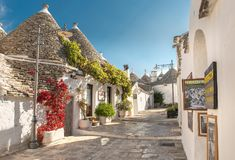 Alberobello Trulli, Puglia, Apulia, Italia Imagen de archivo libre de regalías