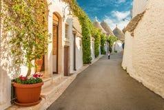 Alberobello Trulli, Puglia, Apulien, Italien Lizenzfreie Stockbilder