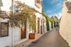 Alberobello Trulli, Puglia, Apulien, Italien Lizenzfreies Stockbild
