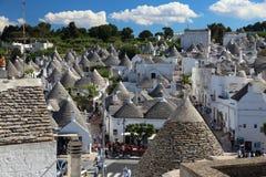 Alberobello-trulli Stadt Stockfoto