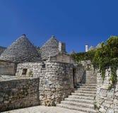 Alberobello trullo. Beautiful trullo  alberobello house  made in stones apulia italy Stock Images