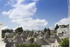 Alberobello_9. View of the ancient town of Alberobello, Puglia, Italy Royalty Free Stock Images