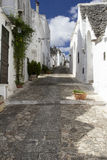 Alberobello. View of the ancient town of Alberobello, Puglia, Italy Stock Images