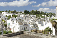 Alberobello. View of the ancient town of Alberobello, Puglia, Italy Royalty Free Stock Photos