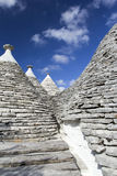 Alberobello. View of the ancient town of Alberobello, Puglia, Italy Royalty Free Stock Image