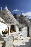 ALberobello. View of the ancient town of Alberobello, Puglia, Italy Royalty Free Stock Images
