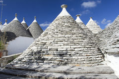 Alberobello_2. View of the ancient town of Alberobello, Puglia, Italy Stock Images