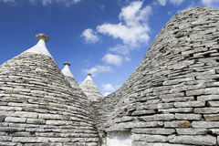 Alberobello_3. View of the ancient town of Alberobello, Puglia, Italy Royalty Free Stock Photo